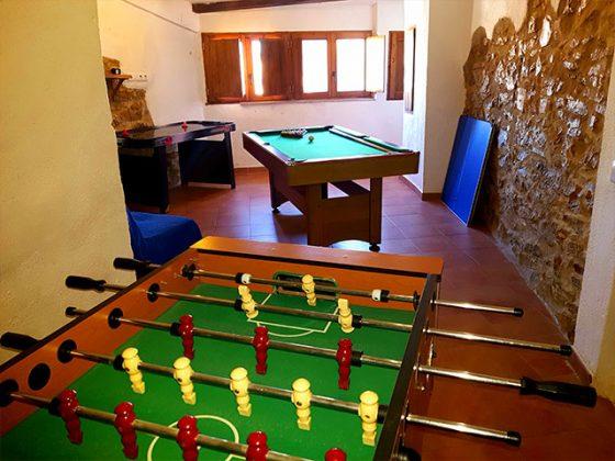 casa rural turmell salon de juegos