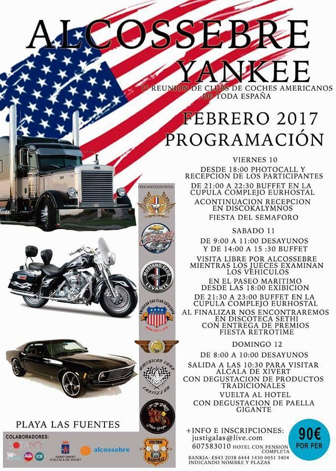 Concentración Alcossebre Yankee de coches americanos