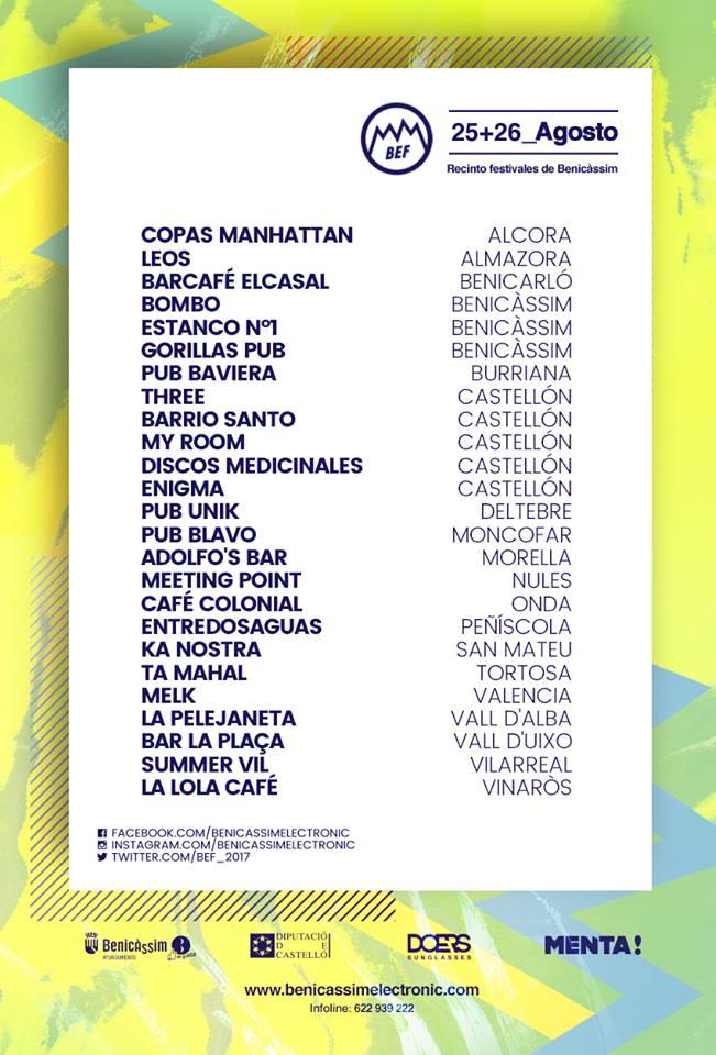 Venta de entradas Benicassim Electronic Festival