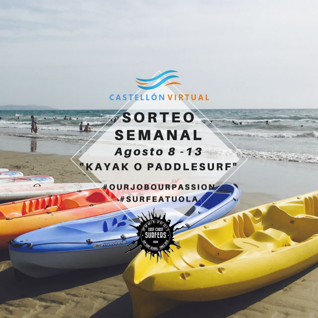 Sorteo de «Kayak o Paddlesurf» en CastellonVirtual