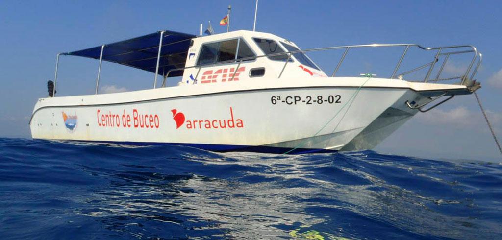 Islas Columbretes  con Cuatro Barracuda