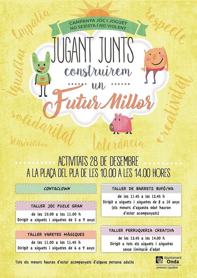 El Ayuntamiento de Onda presenta la campaña «Jugant junts construirem un futur millor»