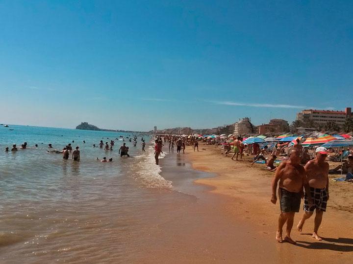 Playa norte de peñiscola