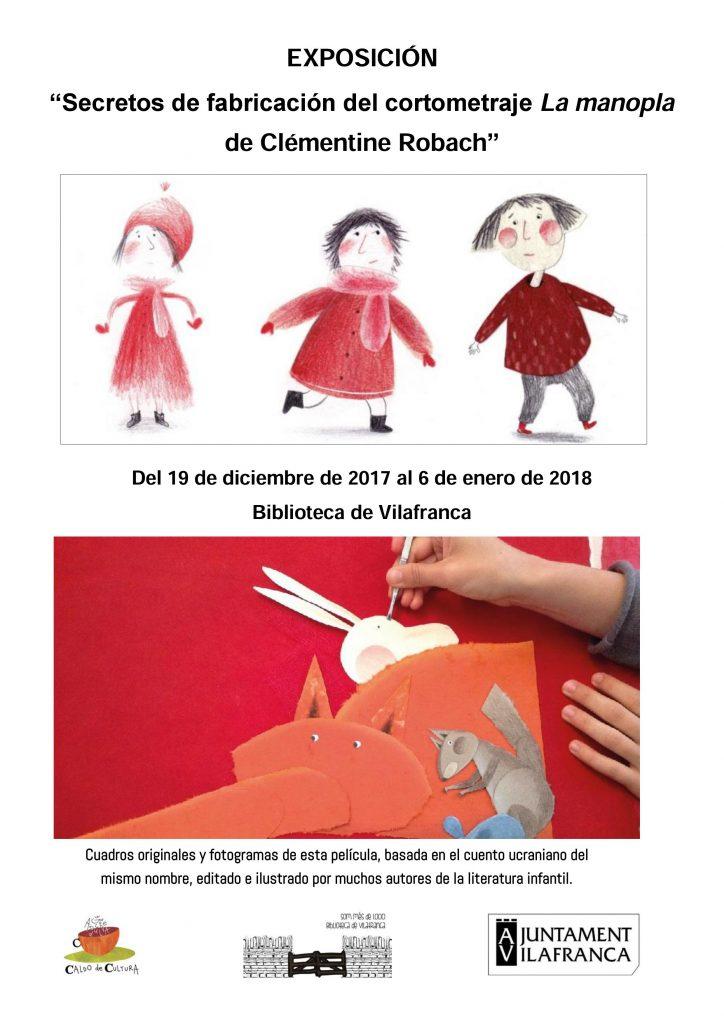 Exposición «Cómo se hizo el cortometraje La Manopla, de Clémentine Robach»
