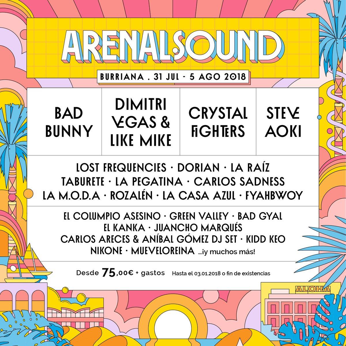 La Pegatina se incorpora al cartel del Arenal Sound 2018