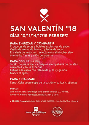 Día de San Valentín en el Hotel del Golf Playa del Grao de Castellón