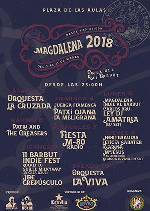 Conciertos en la Colla del Rei Barbut Magdalena 2018