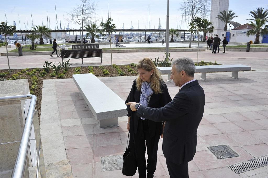 La nueva Plaza de Setè se abre hoy al público para acoger diversos eventos en el Grao de Castellón