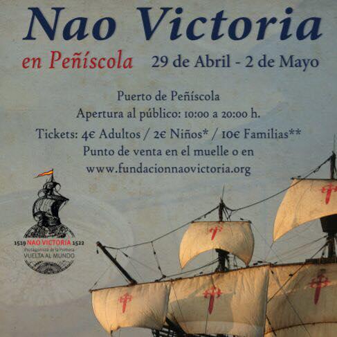 La Nao Victoria recalará en Peñíscola del 29 de marzo hasta el 1 de mayo