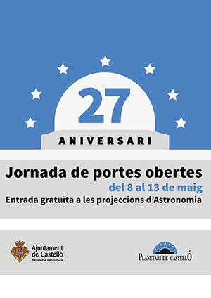 Jornadas de puertas abiertas en el Planetari de Castellón