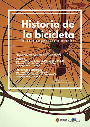 Exposición «Historia de la bicicleta» en el Planetario de Castellón