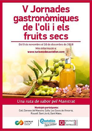 V Jornadas gastronómicas del aceite y los frutos secos del Maestrazgo