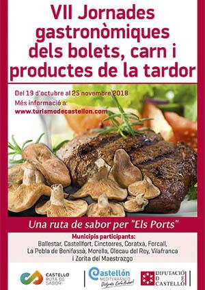 VII Jornadas de las setas, carne y productos del otoño, ruta por Els Ports