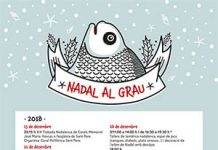 Cartel de Navidad en el Grao de Castellón 2018