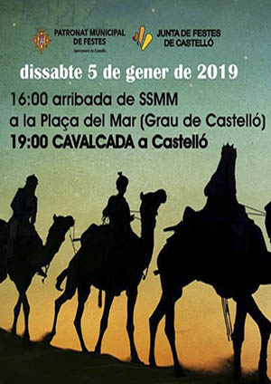 Cabalgata Reyes Magos en Castellón
