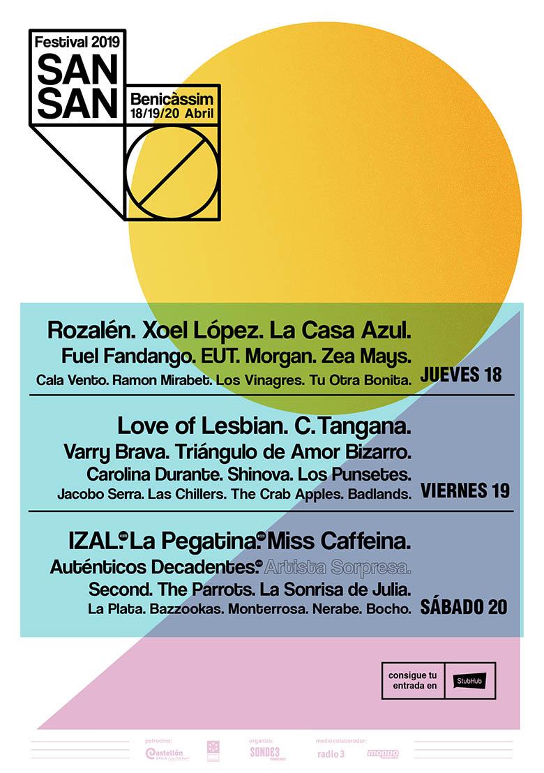 Cartel por dias del SanSan Festival