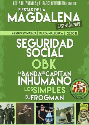 Magdalena 2019: Conciertos de la Colla Bufanuvols