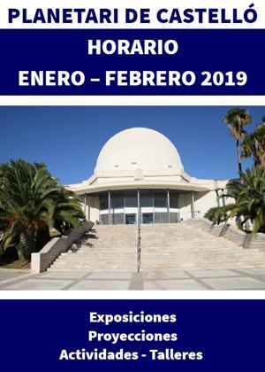 Programación de Enero y Febrero del Planetario de Castellón