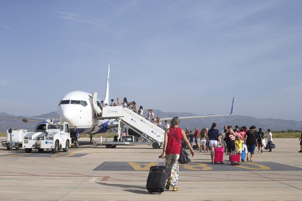 El aeropuerto de Castellón supera los 125.000 pasajeros en 2019