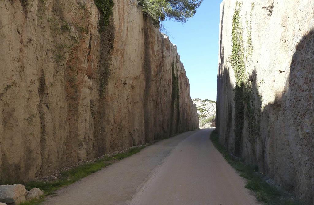 Ruta de la Vía Verde entre Benicàssim y Oropesa del Mar