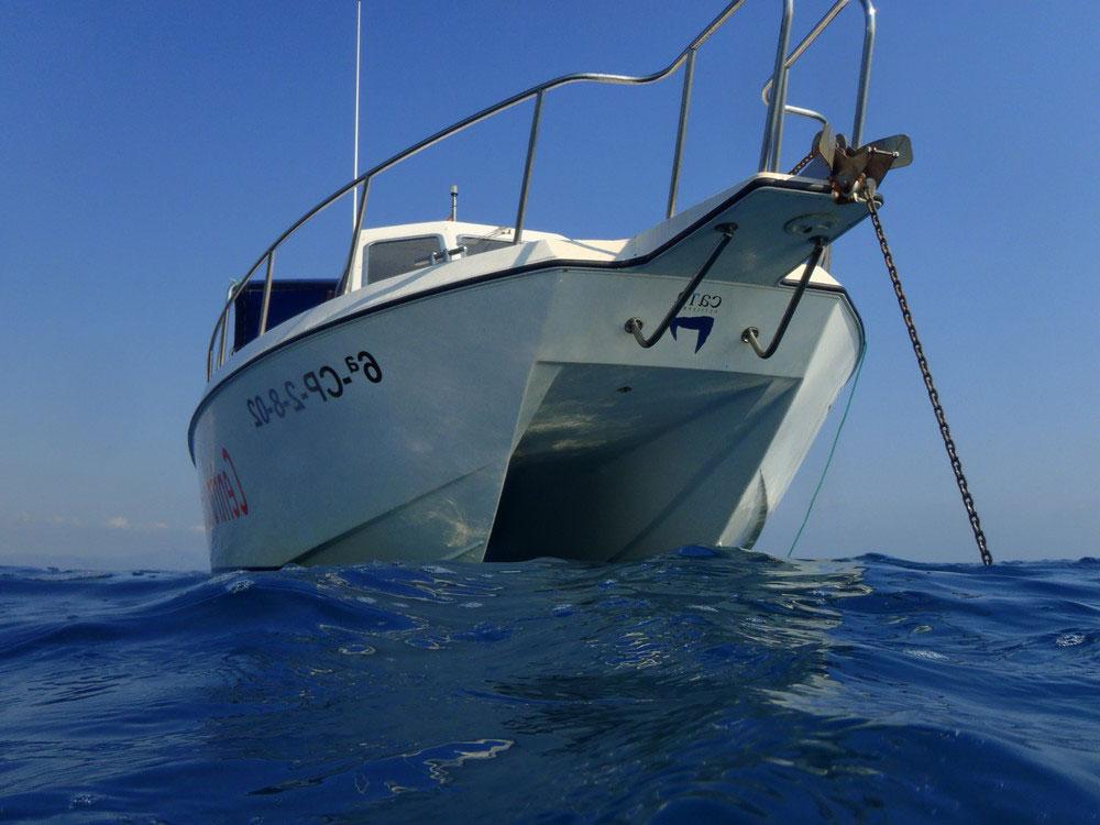 Catamarán excursión buceo Columbretes