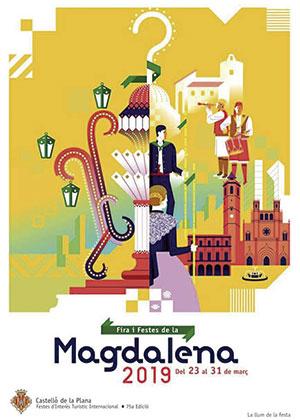 Programa de las 'mascletàs' de la Magdalena 2019