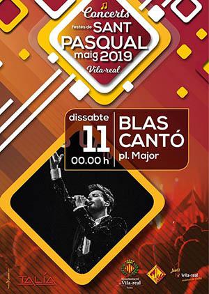 Concierto de Blas Cantó en las fiestas de San Pascual de Vila-real
