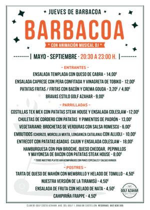 Jueves de Barbacoa en Hotel del Golf Playa-Castellón