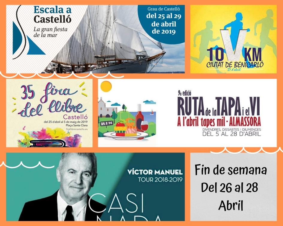 Feria del libro, Tapas en Almassora y Escala a Castelló… ¡Disfruta del último fin de semana de abril!