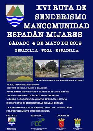 Ruta de senderismo Mancomunidad Espadán-Mijares