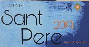 Cartel Fiestas Sant Pere 2019