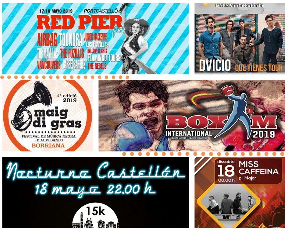 Fiestas, festivales de música y deportes para un intenso fin de semana