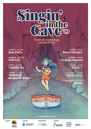 Singin' in the cave en Les Coves de Sant Josep