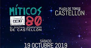 Cartel Míticos 80 Castellón