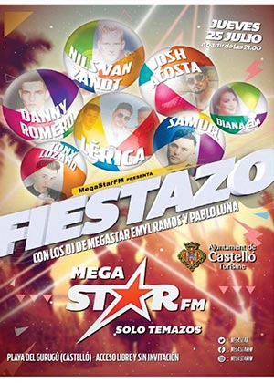 Fiesta MegaStar FM en la Playa del Gurugú