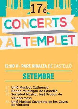'Concerts al Templet' del Parque Ribalta 2019
