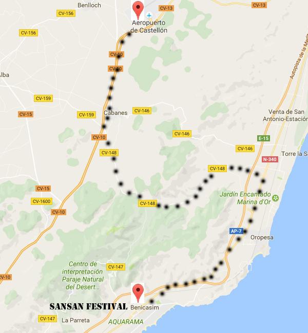 ¿Como llegar al SanSan Festival de Benicásim?