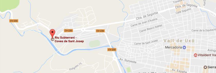 Como llegar a las cuevas de San José