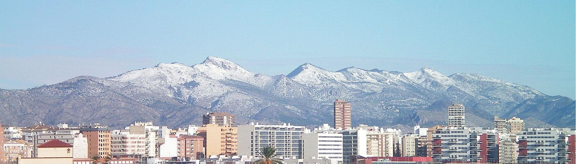 Nieva en Castellón. No todo es sol y calor.