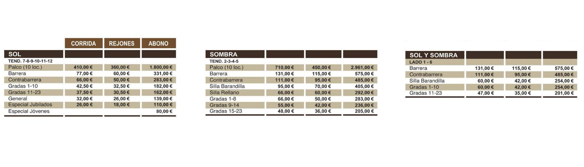 Precio Corridas de Toros de Magdalena en Castellón