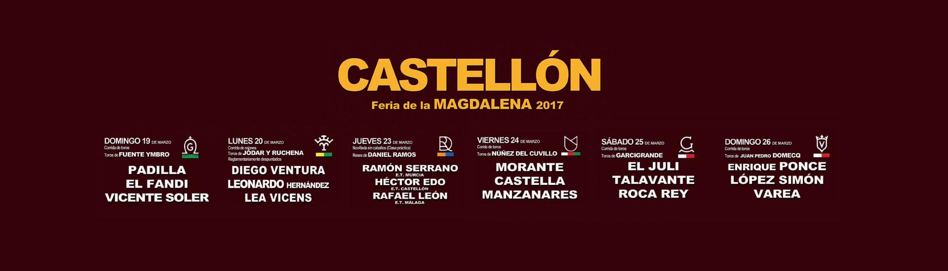 Corridas de toros de Magdalena 2017