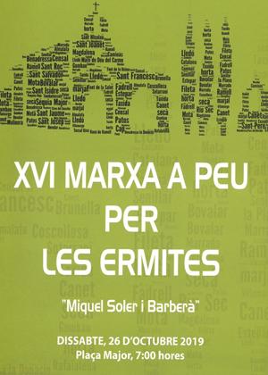 XVI Marxa a peu per les Ermites