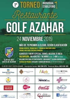 1º Torneo Individual Stableford Restaurante Golf Azahar