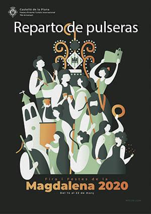 Reparto de pulseras de las Fiestas de la Magdalena 2020