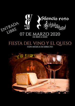 Fiesta del vino y el queso con música en directo