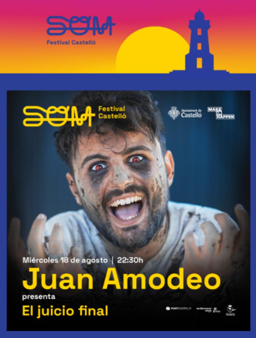 SOM Festival cuenta con Juan Amodeo para sus noches de humor