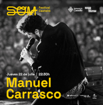 Manuel Carrasco, primer artista confirmado del SOM Festival Castelló